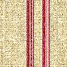 Vintage Fabric - Faux Linen Texture Vintage Grain Sack French Ticking Stripe by joanmclemore - Vintage Fabric with Spoonflower - Printed on Linen Cotton Canvas Fabric by the Yard
