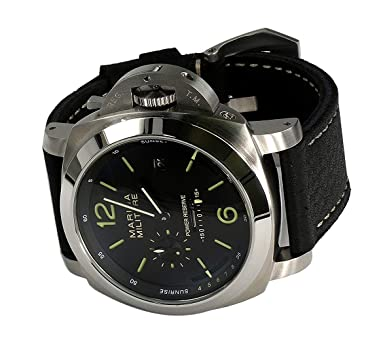 PARNIS mm Goliath SS 50 mm by PARNIS Black Dial Automático Calibre Seagull: Amazon.es: Relojes