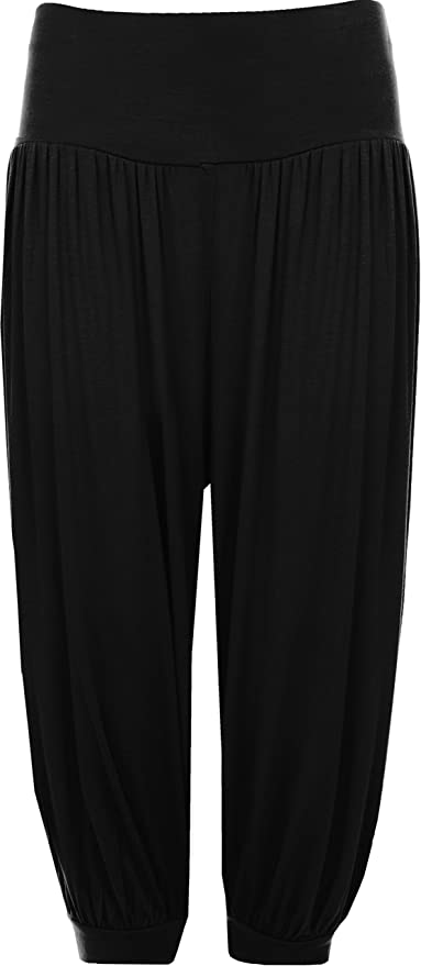 Women's Cropped Baggy Harem Trousers, choice of colours, sies 8 to 26