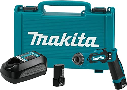 Makita DF012DSE 7.2V Lithium-Ion Cordless 1 4 Hex Driver-Drill Kit with Auto-Stop Clutch