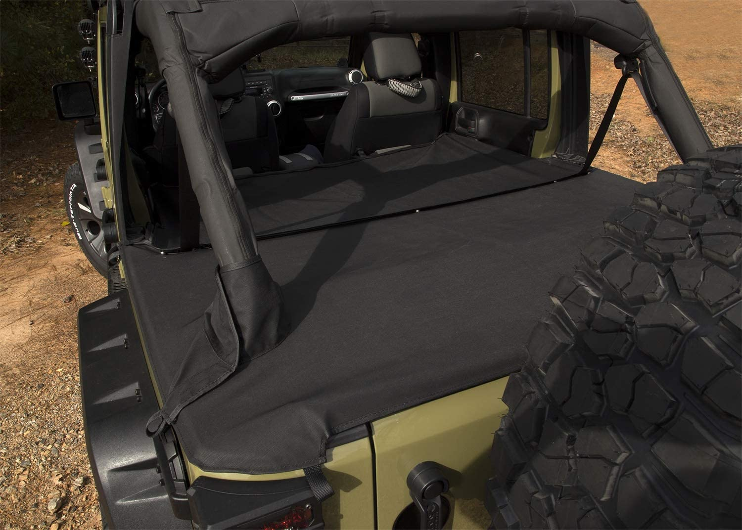Rugged Ridge 13550 05 Tonneau Cover 4 Door Extension For 2007 2018 Jeep Jku Tonneau Covers Truck Bed Tailgate Accessories