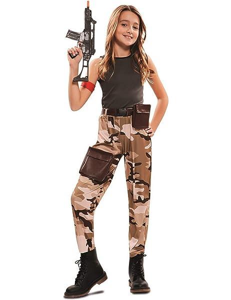 EUROCARNAVALES Disfraz de Soldado de Combate para niña: Amazon.es ...