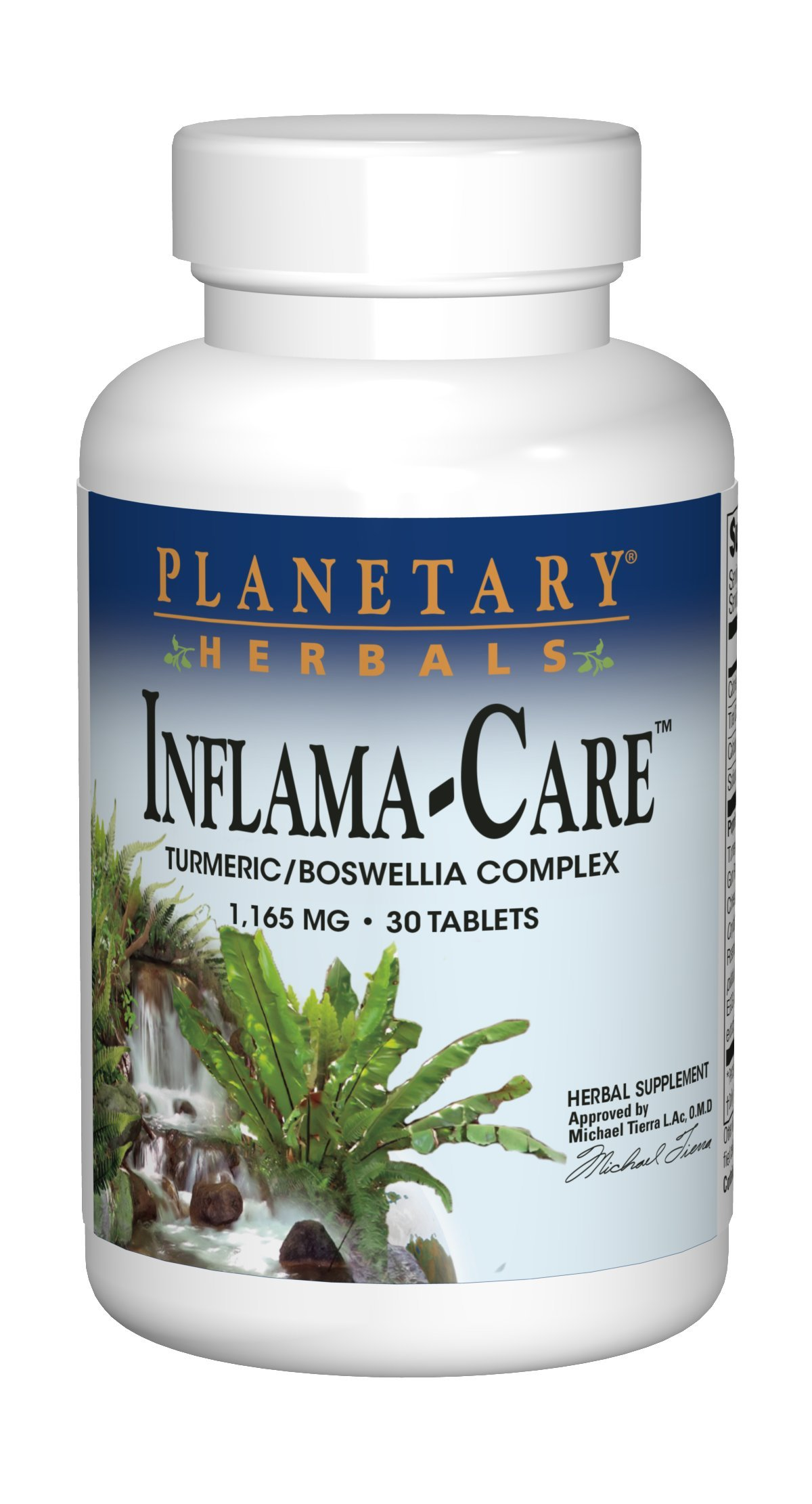 Planetary Herbals Inflama-Care 1165mg Turmeric/Boswellia Complex - 30 Tablets