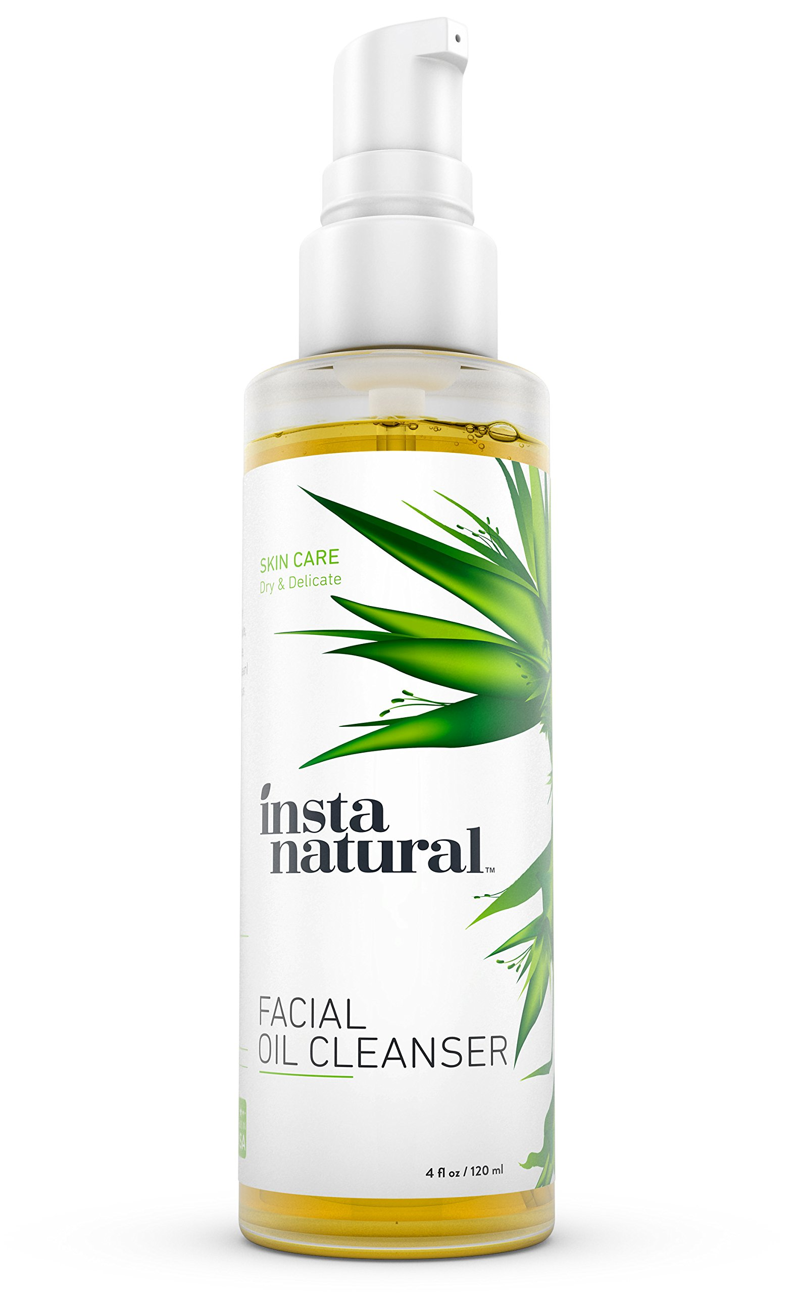 InstaNatural Deep Pore Cleansing Oil with Sunflower and Rosemary Seed Oil for Dry or Sensitive Skin, 4 oz
