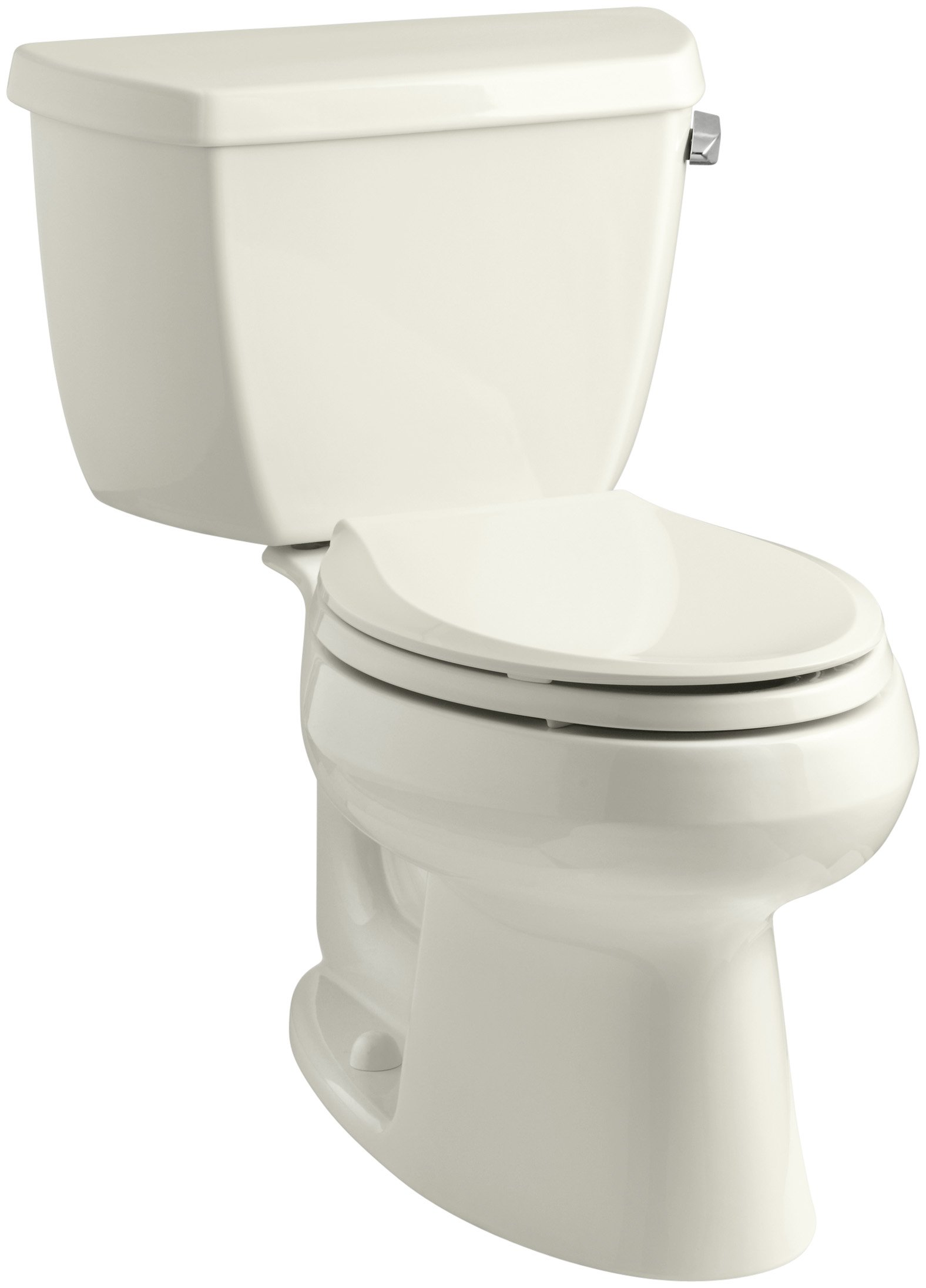 Kohler K-3575-RA-96 Wellworth Classic 1.28 gpf Elongated Toilet with Class Five Flushing Technology and Right-Hand Trip Lever, Biscuit by Kohler
