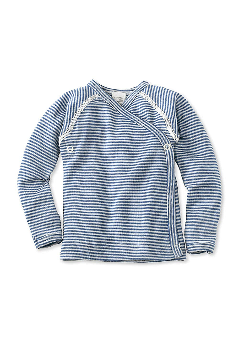 hessnatur Baby Mädchen und Jungen Unisex Langarm Wickelhemd aus Bio-Merinowolle mit Seide