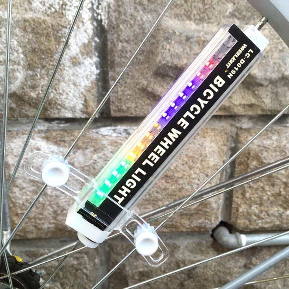Bike Wheel Led Lights Waterproof Spoke Bicycle Lights 16 LED Spoke Light for Night Riding 42 Different Patterns Change Safety and Warning