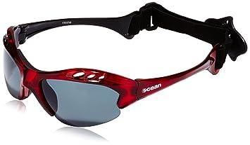 Ocean Sunglasses Mauricio - Gafas de Sol polarizadas - Montura : Rojo Brillante - Lentes :