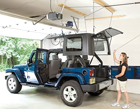 Wrangler Hard Top >> Harken Jeep Hardtop Garage Storage Hoist With Bonus 6 T Knobs For Quick Hardtop Removal 6 1 Mechanical Advantage Lift Single Person Hanger