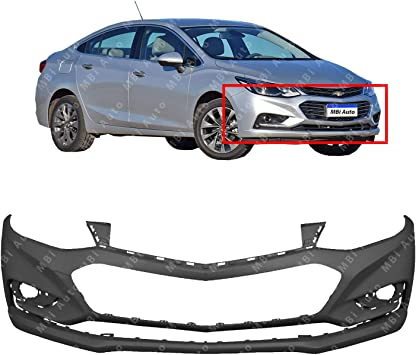 Primered Rear Bumper Cover Replacement for 2016 2017 2018 Chevy Cruze Sedan