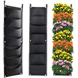 X XBEN Vertical Wall Hanging Planters, 7 Pockets Indoor Outdoor Large Grow Bags for Balcony Garden Yard Office Home…