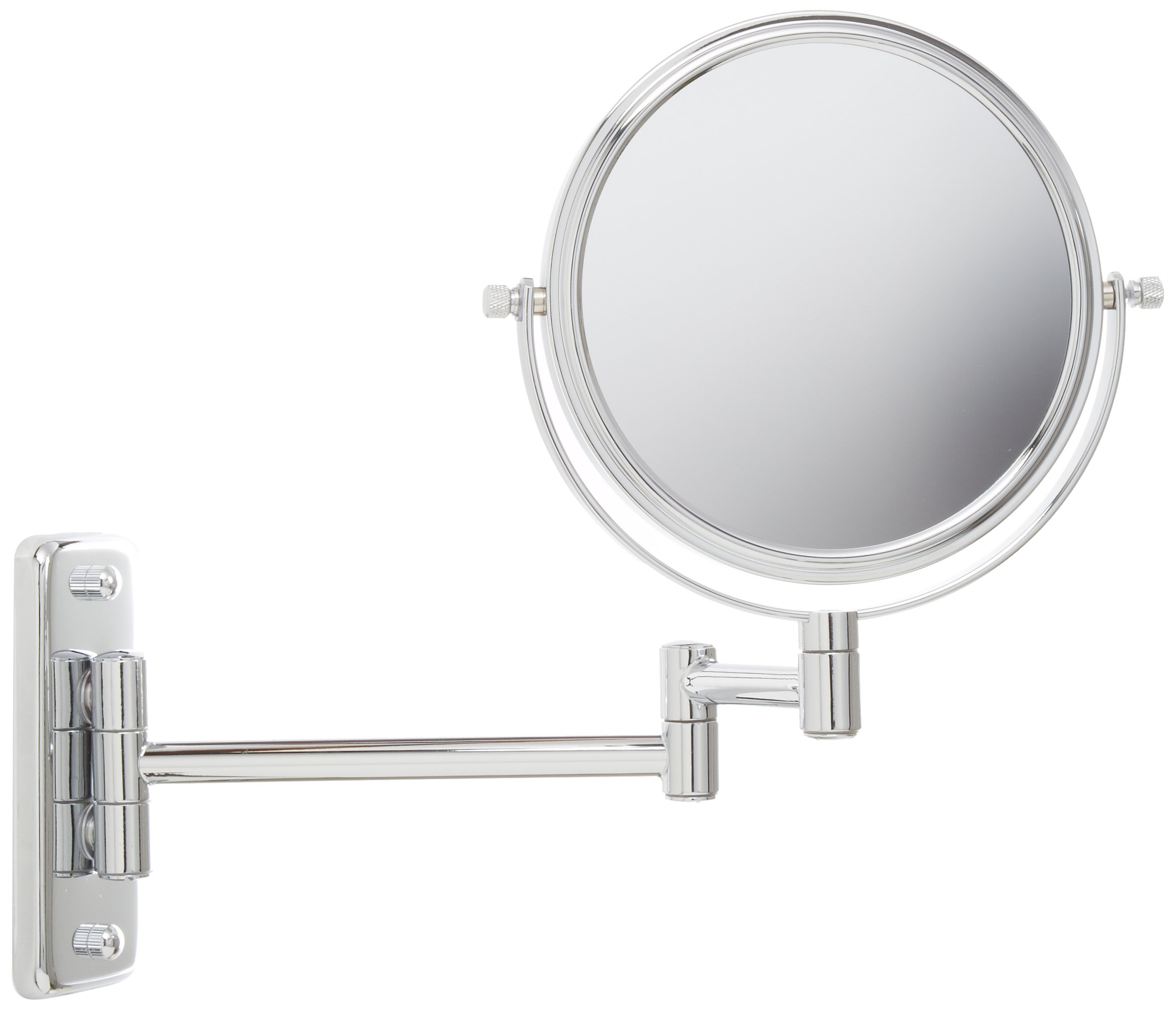 Jerdon JP7508C 6-Inch Wall Mount Makeup Mirror with 5x Magnification, Chrome Finish