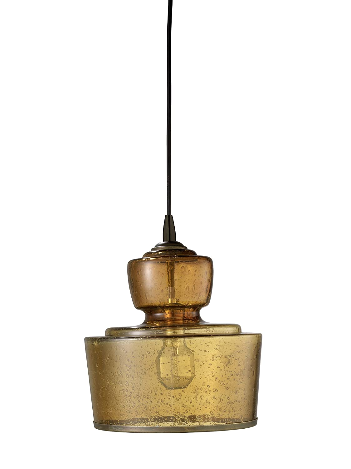 Jamie Young 5LAFI LGAM Lafitte Pendant, Amber Seeded Glass   Ceiling  Pendant Fixtures   Amazon.com