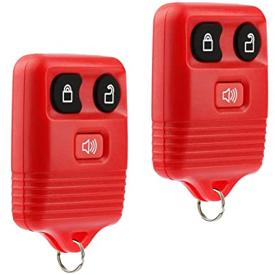 Key Fob Keyless Entry Remote fits Ford, Lincoln, Mercury, Mazda F150 F250 F350 Escape Expedition Explorer Ranger Flex (Red), Set of 2: Automotive