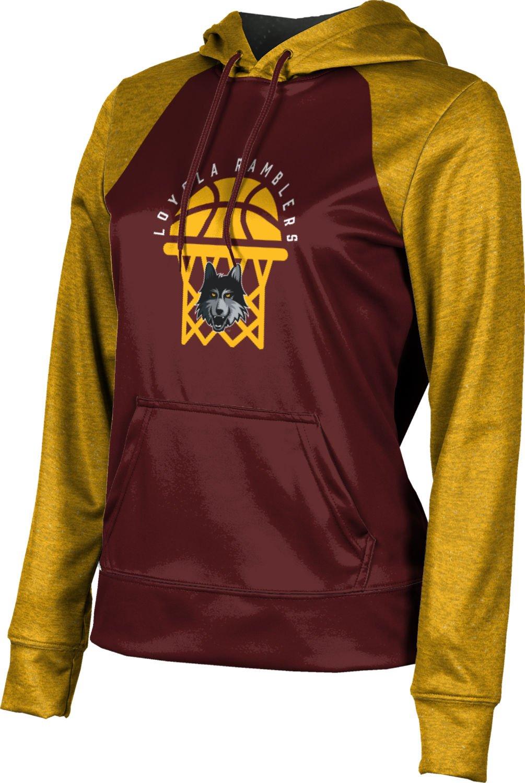 Loyola University Chicago Basketball Women's Hoodie Sweatshirt - Raglan (Medium)