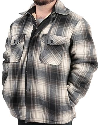 2ec5c4c92 Woodland Supply Co. Men s Plaid Flannel Fleece Sherpa Lined Warm ...