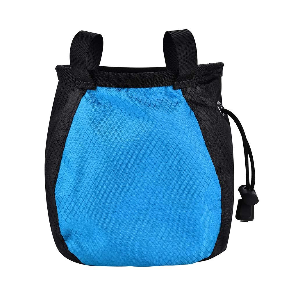 Pasamer Bolsa De Tiza para Escalar Al Aire Libre Barras Paralelas Horizontales Body Building Gym Bolsa De Polvo Antideslizante para Escalada En Roca Azul