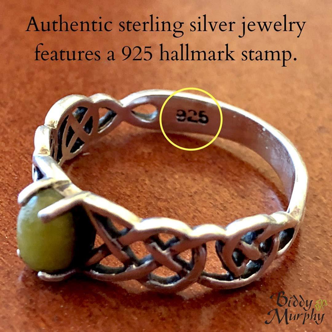 14K White Gold Trinity Knot Necklace Diamond Pendant Made in Ireland