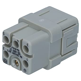 HARTING 09120053101 Han Q Power Connector, , Straight, 6 Pin 2 ... on