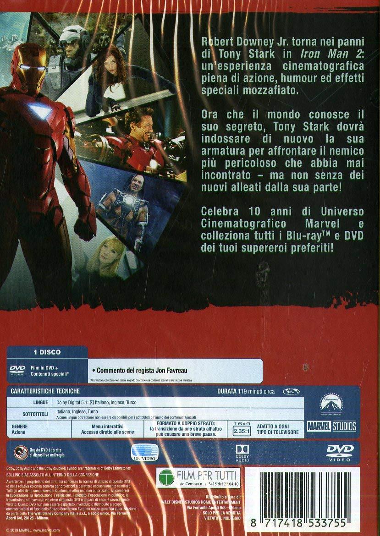 Iron Man 2 Edizione Marvel Studios 10 Anniversario Italia DVD: Amazon.es: Ac/Dc, Paul Bettany, Don Cheadle, John Debney, Robert Downey Jr, Jon Favreau, Samuel L. Jackson, Scarlett Johansson, Kate Mara, Gwyneth Paltrow,