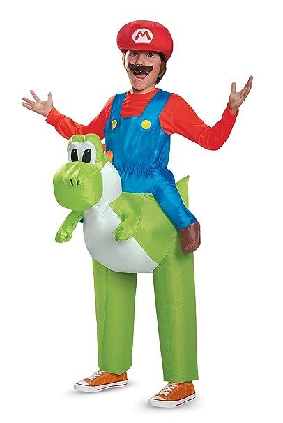 Amazon.com: Niño Mario Yoshi hinchable de equitación Mario ...