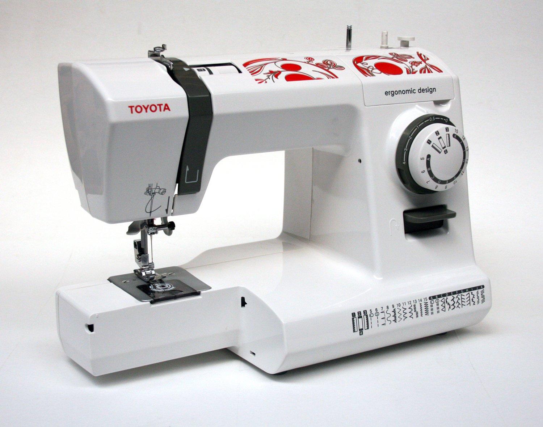 Toyota ECO26C - Máquina de coser, 65 W, 26 programas, color blanco/rojo: Amazon.es: Hogar