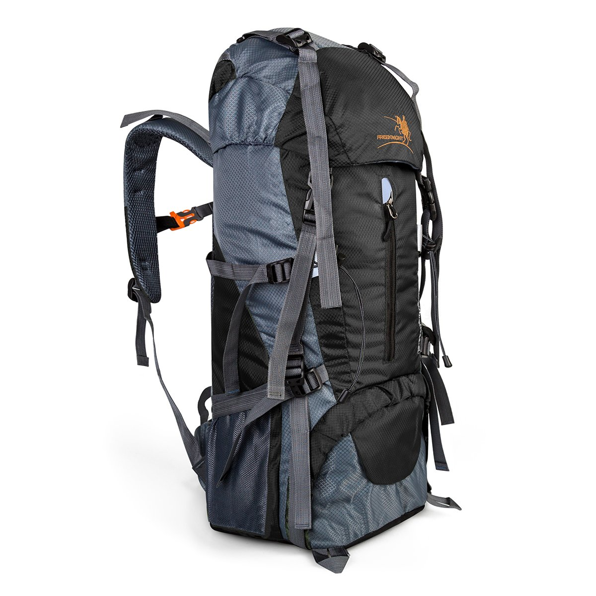 60+5L Hiking Backpack Water Resistant Outdoor Sport Bag for Camping Climbing Mountaineering Fishing Cycling Skiing Travel Backpack Daypack Women Men Size 12.2\'\'x 9.8\'\'x 29.9\'\' (Black)