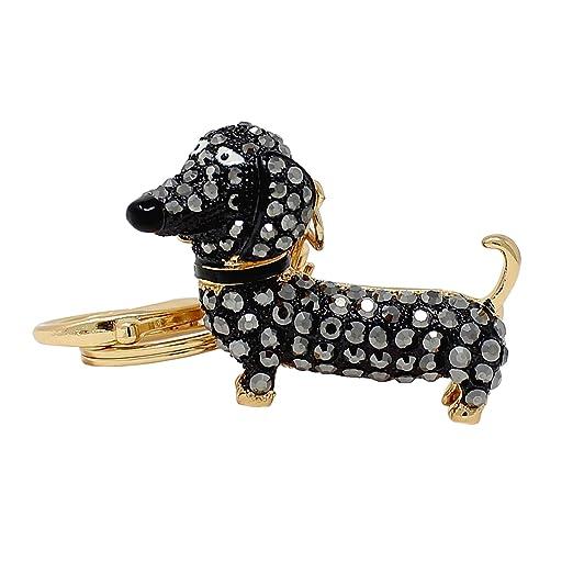 Rhinestone Dachshund Dog Keychain d47a5d6f56