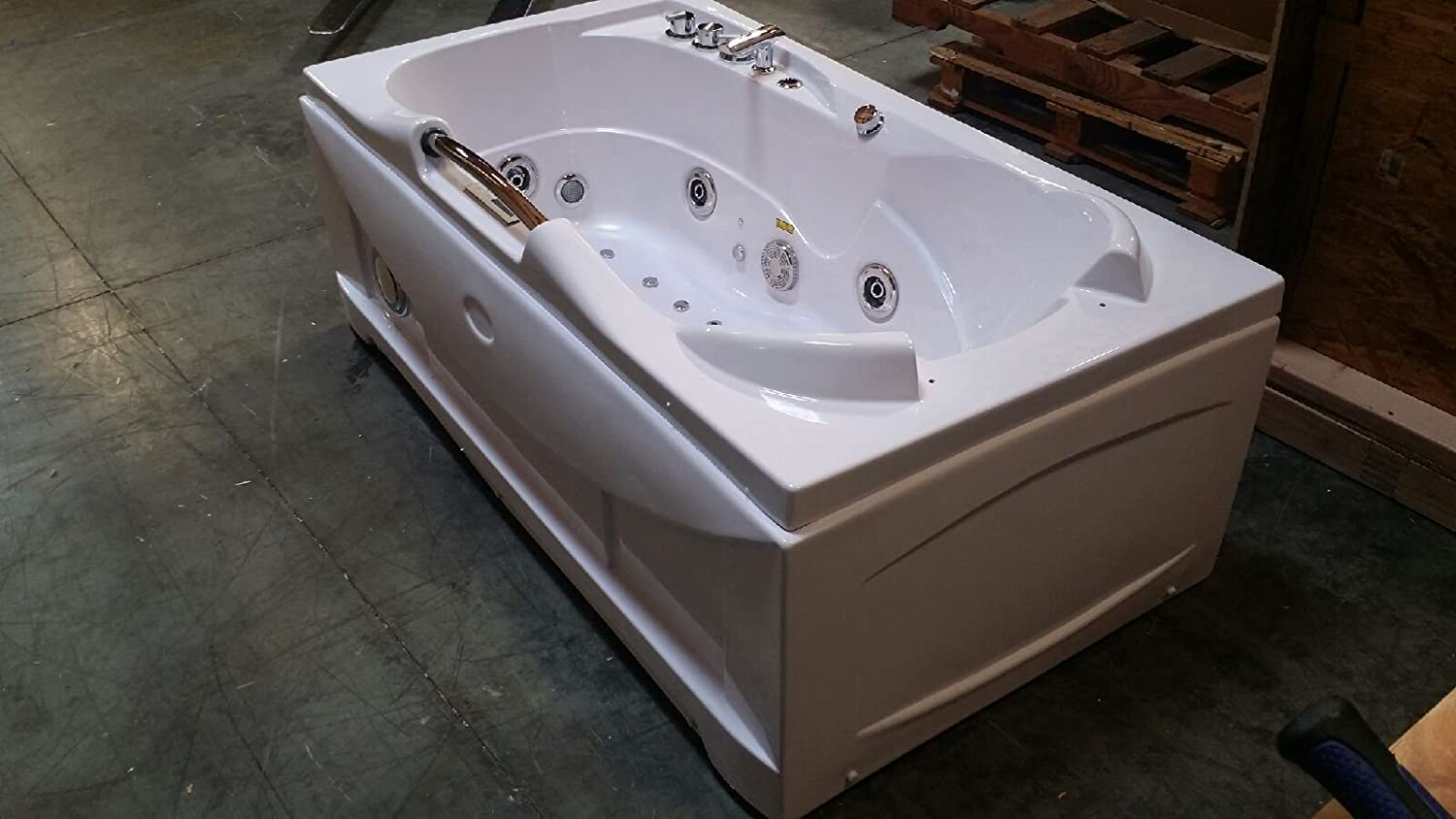 1 Person Whirlpool Massage Hydrotherapy White Bathtub Tub, Bluetooth ...