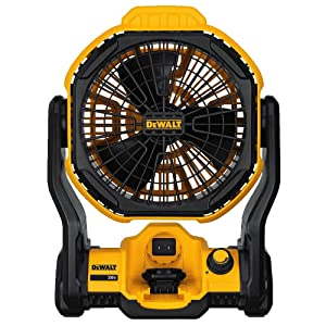 "DEWALT DCE511B11"" Corded/Cordless Jobsite Fan (Tool Only)"