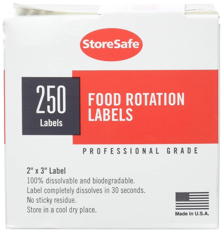 Cambro 23SLINB250 Food Rotation Labels Dissolvable 2