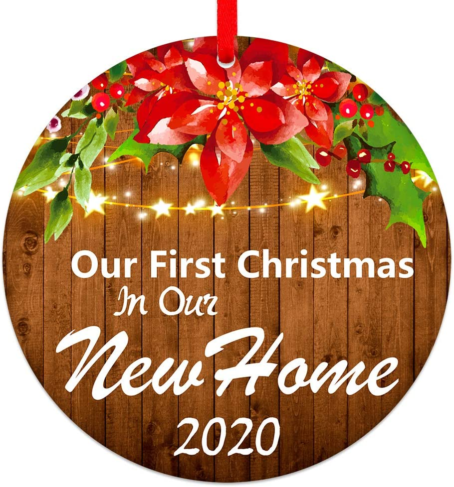 SICOHOME First Christmas in Our New Home Ornaments 2020, 3