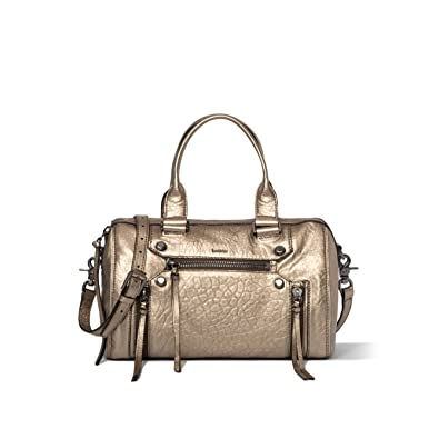 6793d8f300 Amazon.com  Botkier Women s Logan Satchel Bag One Size Metallic Gold ...