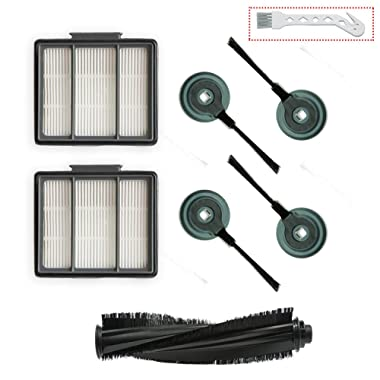 1 Main Brush & 2 Pack Hepa Filter & 4 Side Brushes Replacement for Shark ION Robot S87 R85 RV850 Vacuum Cleaner …