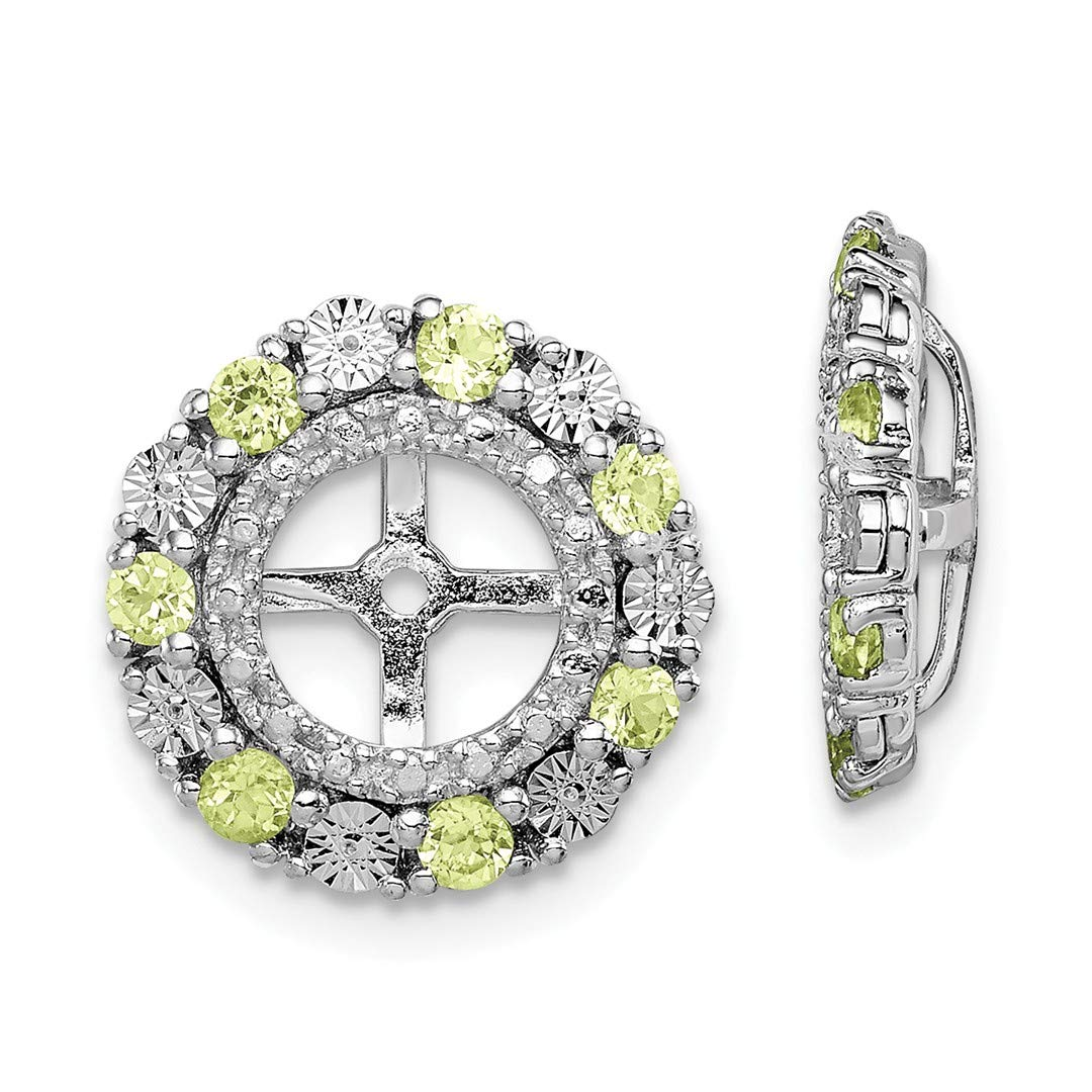 ICE CARATS 925 Sterling Silver Green Peridot Earrings Jacket Birthstone August Fine Jewelry Ideal Gifts For Women Gift Set From Heart