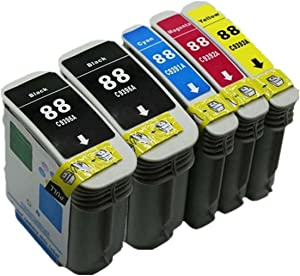 Replacement for HP 88XL 88 XL HP88XL HP88 Ink Cartridges OfficeJet Pro K550 K8600 L7680 K550 L7000 L7681 K550 L7480 L7700 L7500 L7710 K5400 L7550 L7750 K5400 L7580 L7780 K5400 L7590 K550