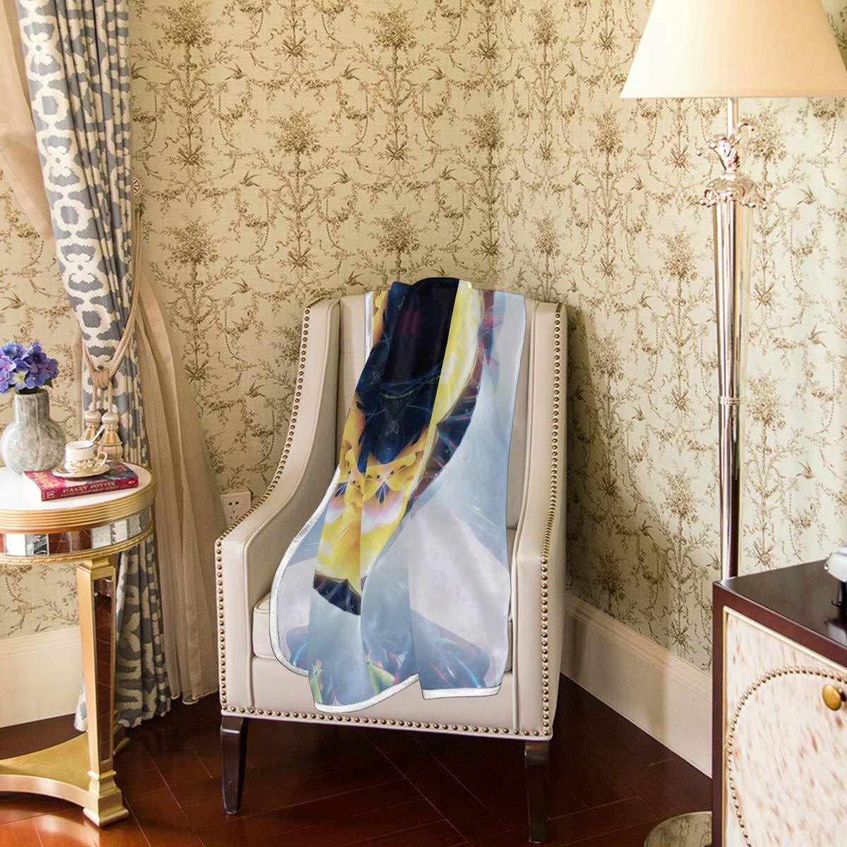 Amazon.com: Senya Yellow Flower Circle Luxury Blanket Soft ...