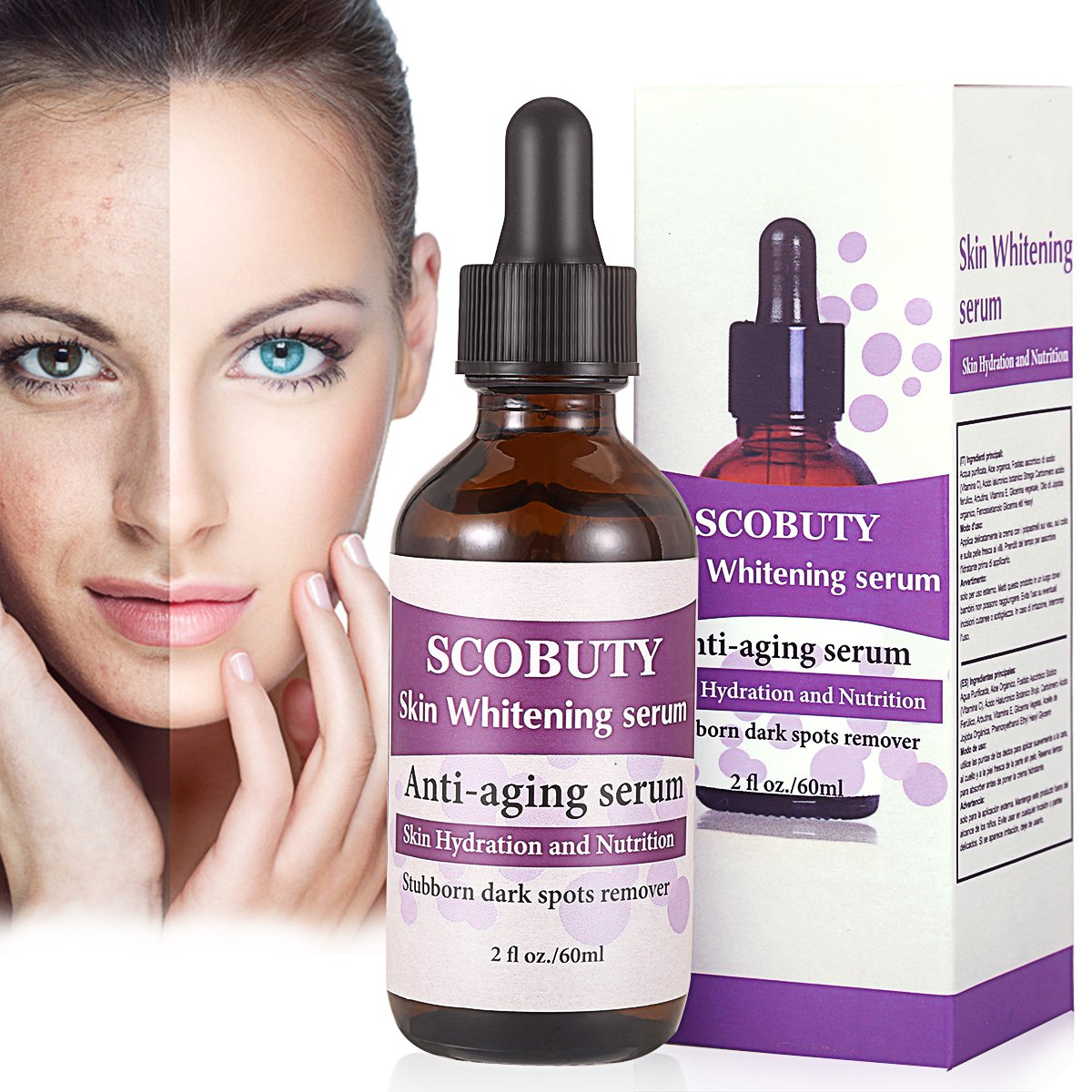 Anti Blemish, Blemish Treatment, Dark Spot Remover, Whitening Serum, Anti Ageing & Anti Wrinkle Serum, Moisturizing Anti Wrinkle, Freckle essence, Spot Treatment, Best Treatment for Wrinkle Repairs Dark Circles, Fades Age Spots and Sun Damage SCOBUTY