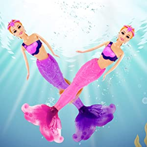 Magic Color Mermaid Doll, 12-Inch, My Dream Mermaid Princess with Color Changing Tail, Mermaid Toys Gifts for 3 to 7 Year Olds