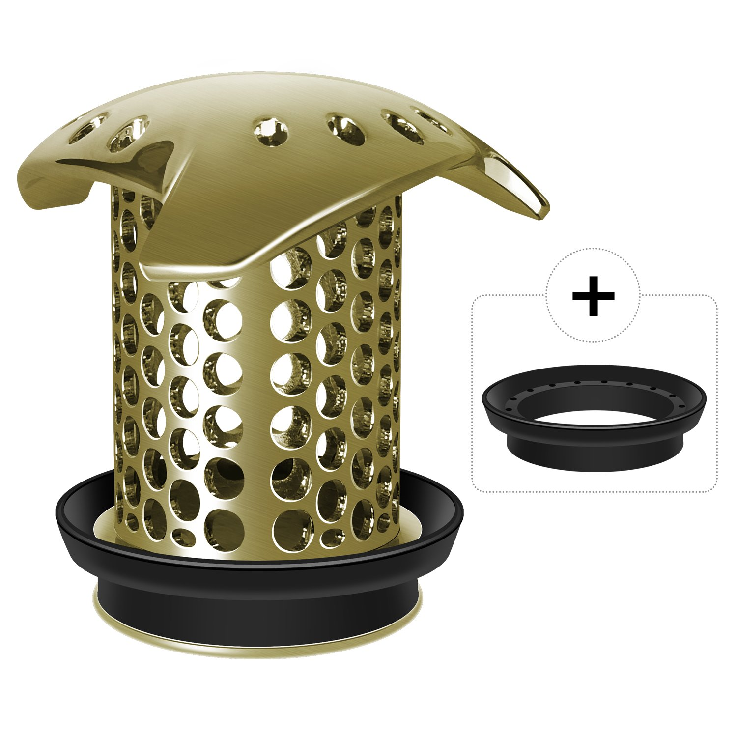 LEKEYE Drain Hair Catcher/Tub Drain Cover/Bathtub Shower Drain Protector/Strainer/Stainless Steel and Silicone-Bronze by LEKEYE