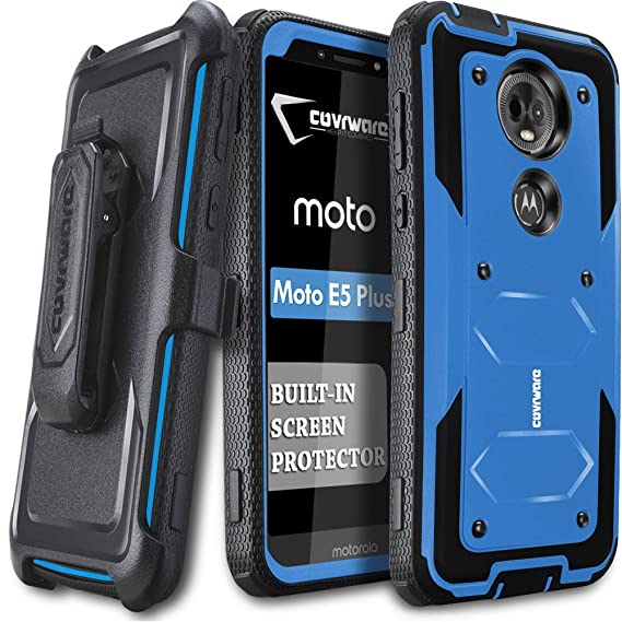 official photos f2b57 51ef6 Moto E5 Plus / E5 Supra Case, COVRWARE [ Aegis Series ] Case Built-in  [Screen Protector] Heavy Duty Full-Body Rugged Holster Armor Case [Belt  Swivel ...
