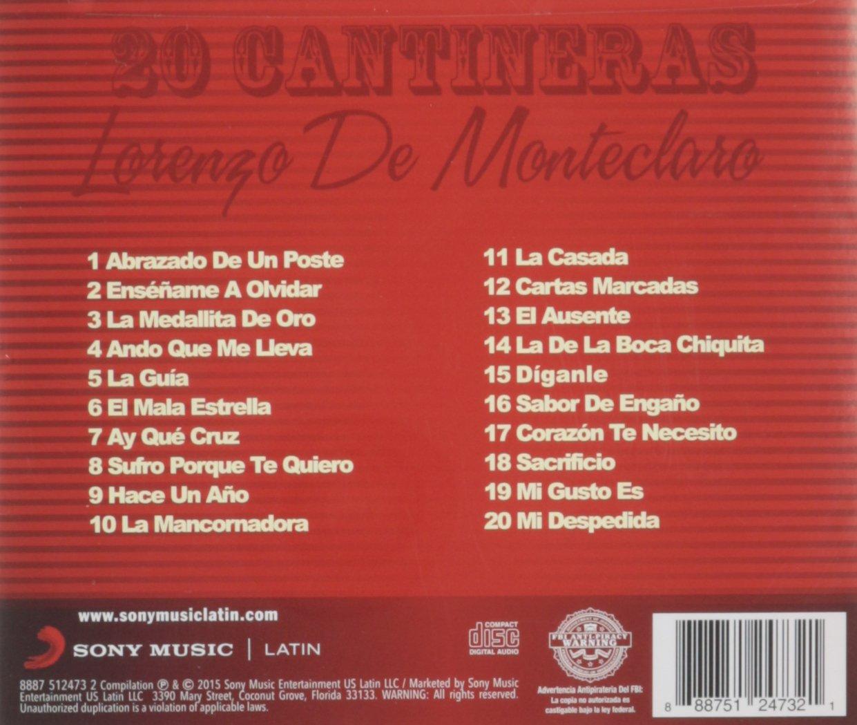 Lorenzo de Monteclaro - 20 Cantineras - Amazon.com Music
