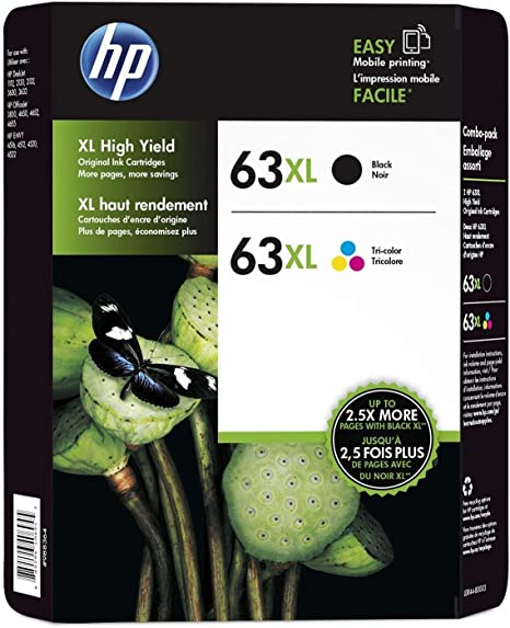 Amazon.com: HP, L0R44BN, cartucho de tinta color/negro 63XL ...