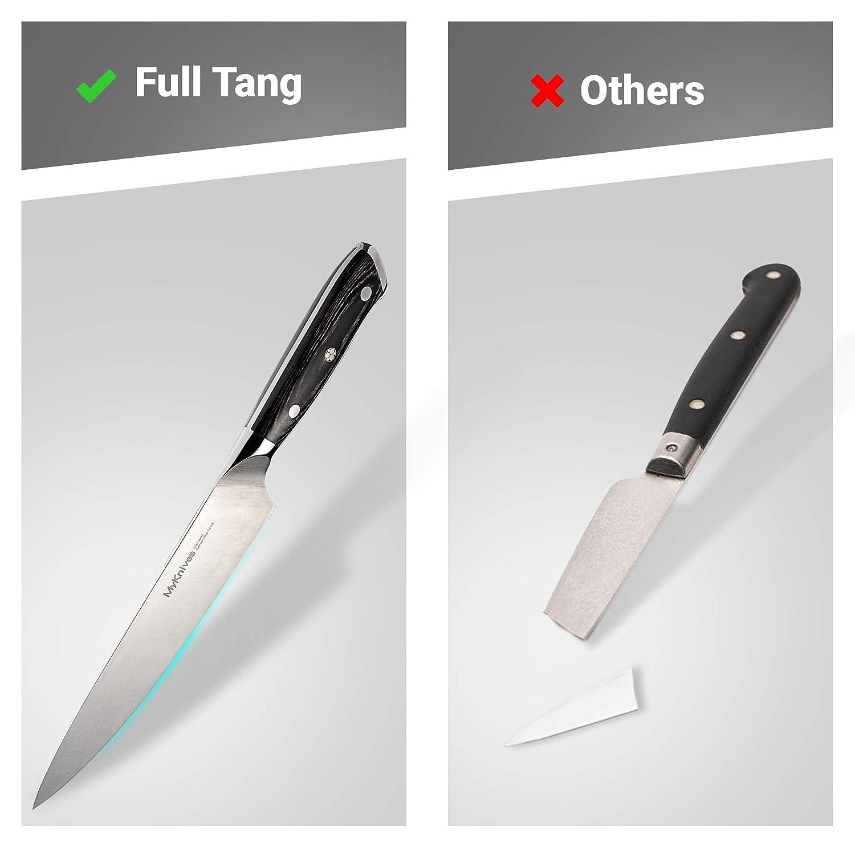 Amazon.com: Cuchillo de chef grande de 7.9 in de acero ...