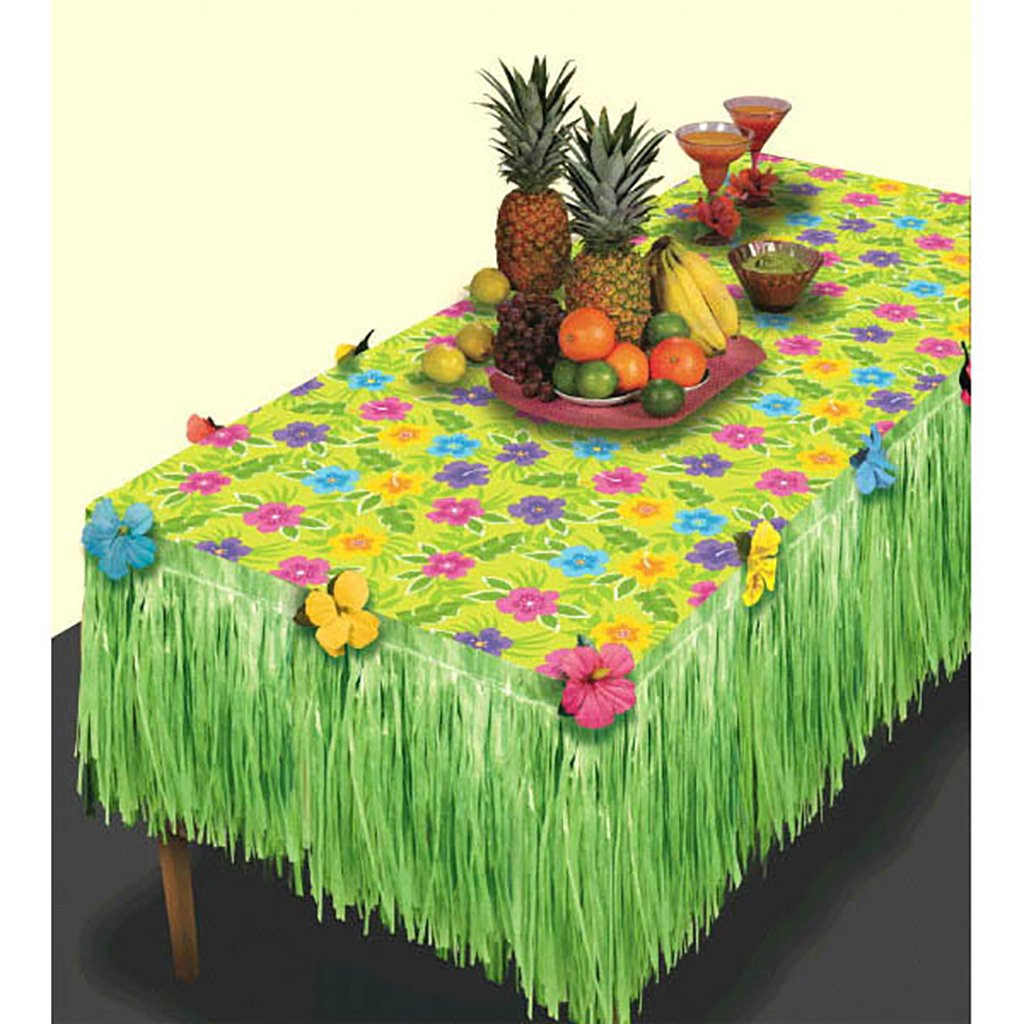 Amscan Hawaiian Beach Summer Luau Transform-a-Table Decorating Kit Party Supplies (8), 8 Pieces by Amscan (Image #1)
