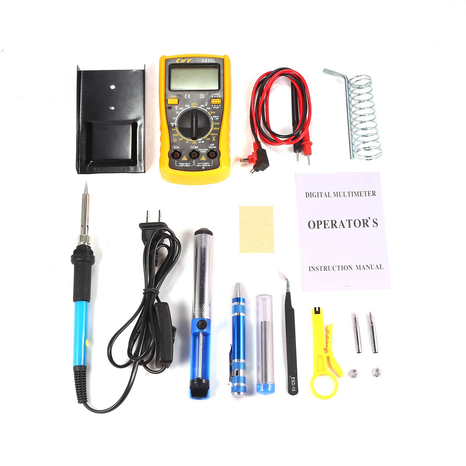 Soldering Iron Kit Electronics 60W 110V Adjustable Temperature Welding Soldering Iron Set
