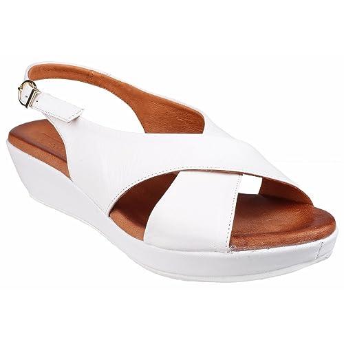 Riva Ambra Buckle Ladies Summer Sandal White - 41