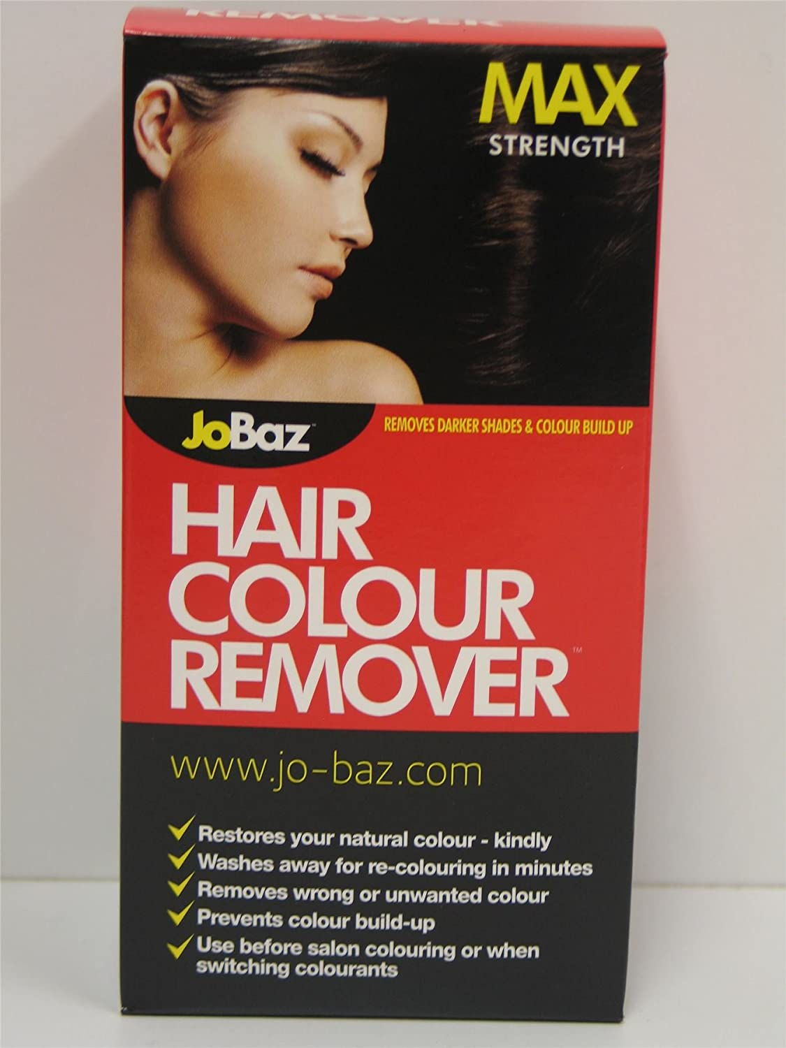 2 X JOBAZ HAIR COLOUR REMOVER MAX STRENGTH REMOVES DARKER SHADES COLOUR BUILD UP