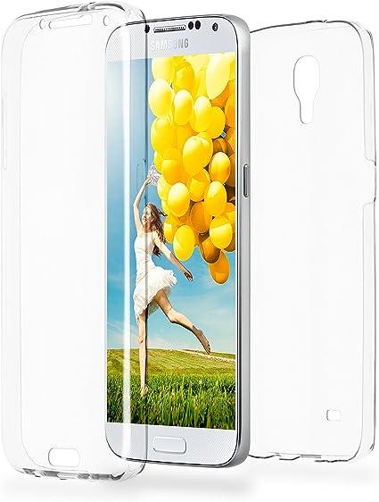 MoEx Funda Protectora 360º de Silicona Compatible con Samsung Galaxy S4 | Transparente, Transparent: Amazon.es: Electrónica