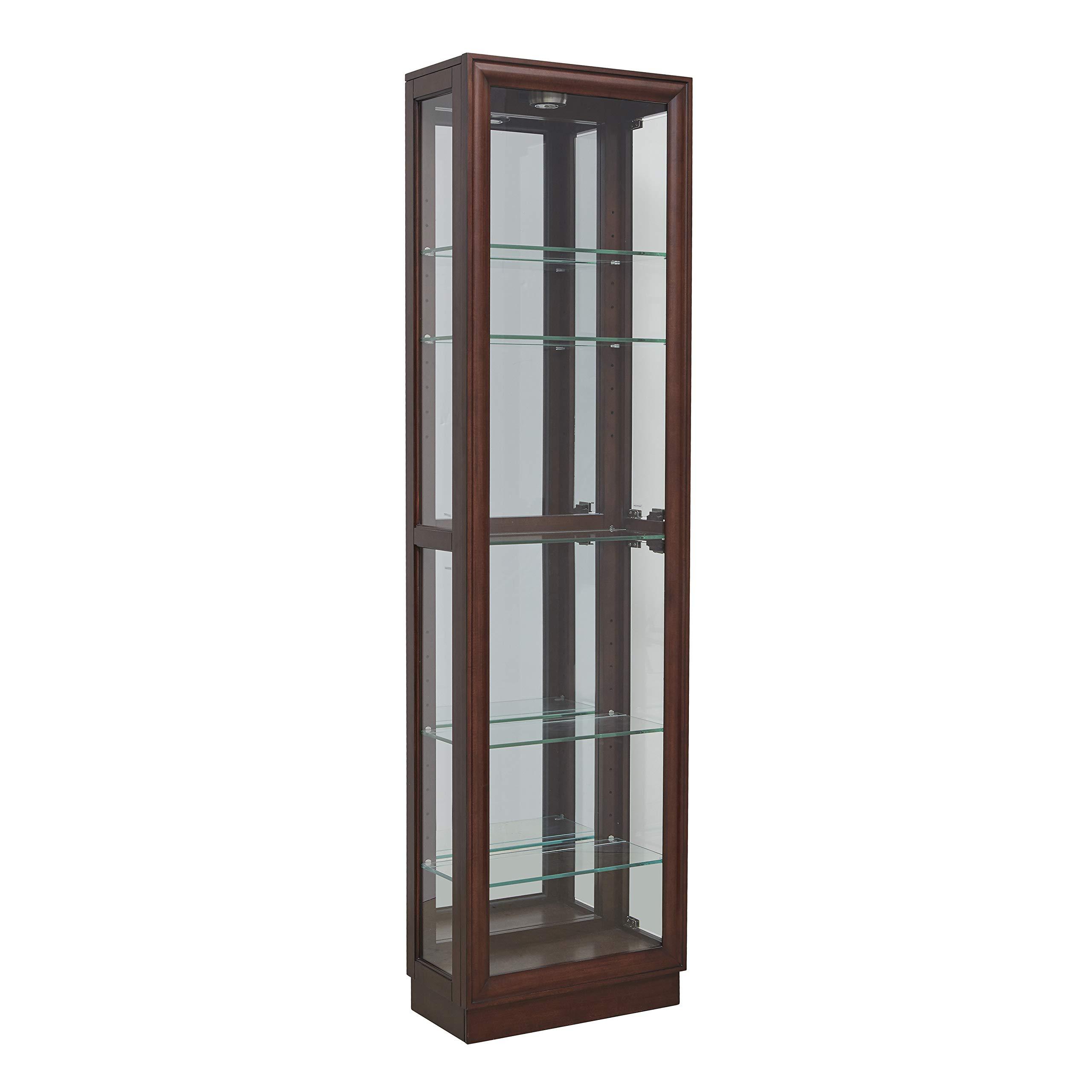 Pulaski  Side Entry Curio Display Cabinet, 21.0'' L x 11.0'' W x 77.0'' H, Cherry by Pulaski (Image #1)